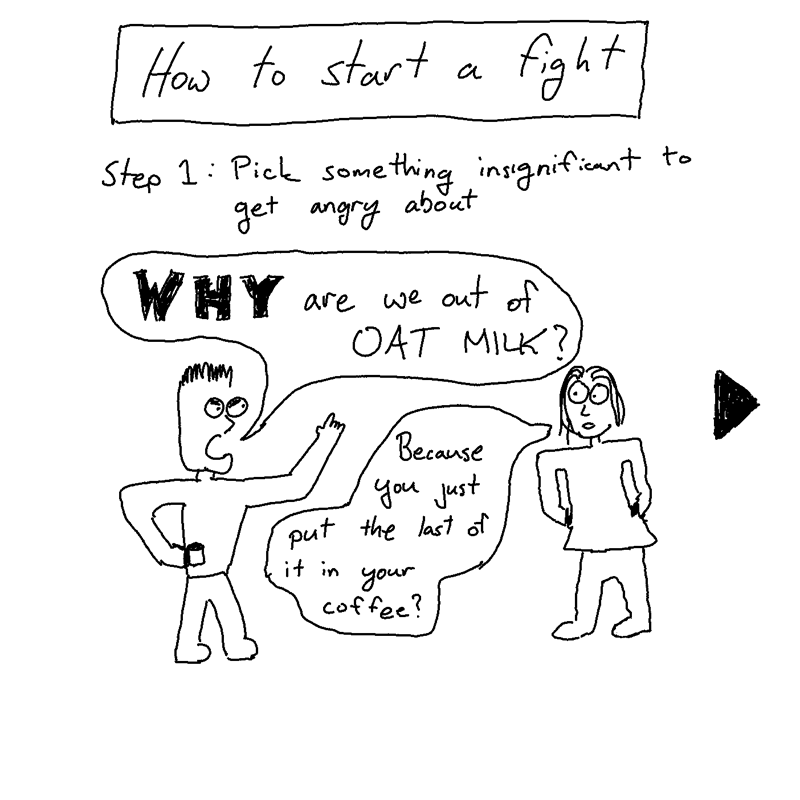 how to start a fight